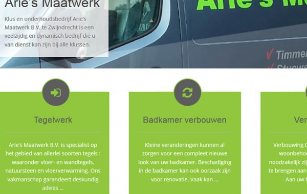 Webdesign Arie's Maatwerk